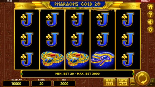 Images of Pharaohs Gold 20