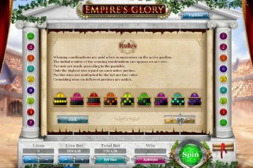 General game rules and payline diagrams. - Hotslot