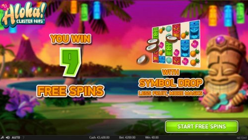 Hotslot - 9 free spins awarded with symbol drop, less fruit, more masks.