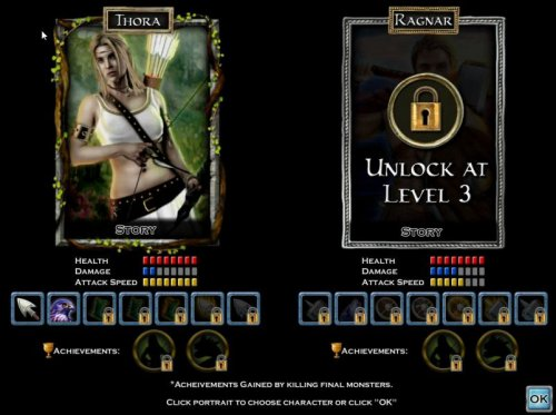 The Ragnar character can be unlocked after level 3 acheivement. - Hotslot