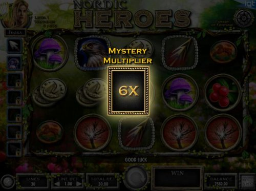 Mystery Multiplier reel triggered - Reel will spin and land on a multiplier that will apply to all winnings for the previous spin. by Hotslot