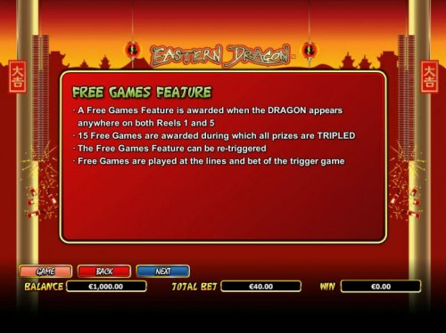 Free Games Feature Rules - Hotslot