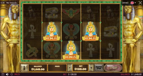 Hotslot - Scatter symbols triggers the free spins feature