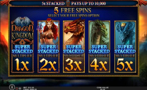 Hotslot - Select a Free Spins Option ranging from 1x to 5x multiplier