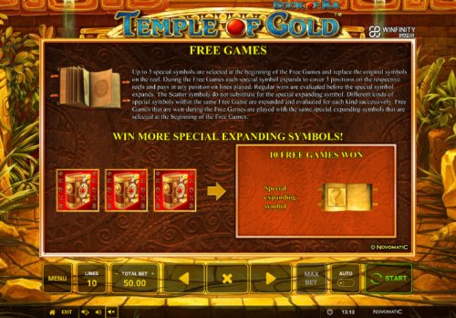 Hotslot image of Book of Ra Temple of Gold