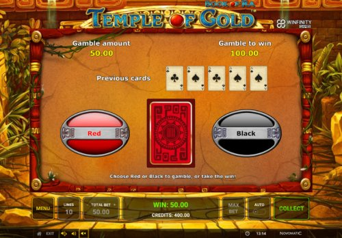Black or Red Gamble Feature - Hotslot